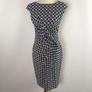 Lauren Ralph Lauren Women Front-Knot Stretch dress